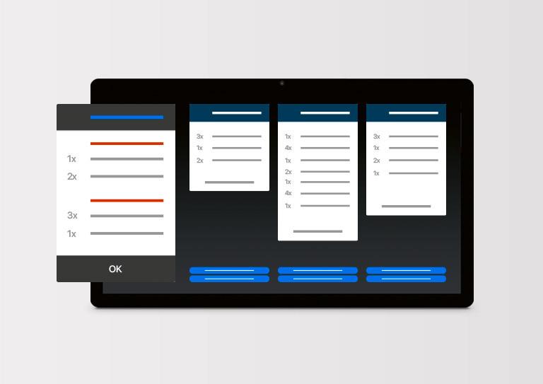 Kjøkkenskjerm – <br>for smidigere kommunikasjon på kjøkkenet ditt